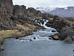 Paisagem no parque nacional Thingvellir, na Islândia