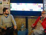 Palestra na Casa Folha, com Sergio Dávila e o escritor Carlos Heitor Cony, no segundo dia da Flip 2015.