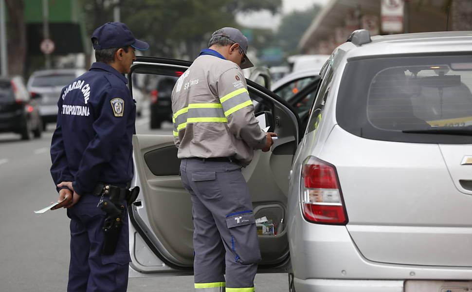 Fiscalização do Uber em São Paulo