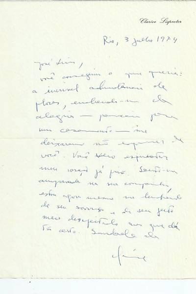 Cartas de Clarice para Mora Fuentes