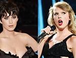 Katy Perry e Taylor Swift; nova música de Swift, 'Bad Blood', supostamente fala sobre uma briga entre as cantoras