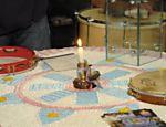 A vela funciona como um cronômetro do evento