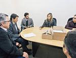 Luisa Mell durante reunião com Fernando Haddad na prefeitura