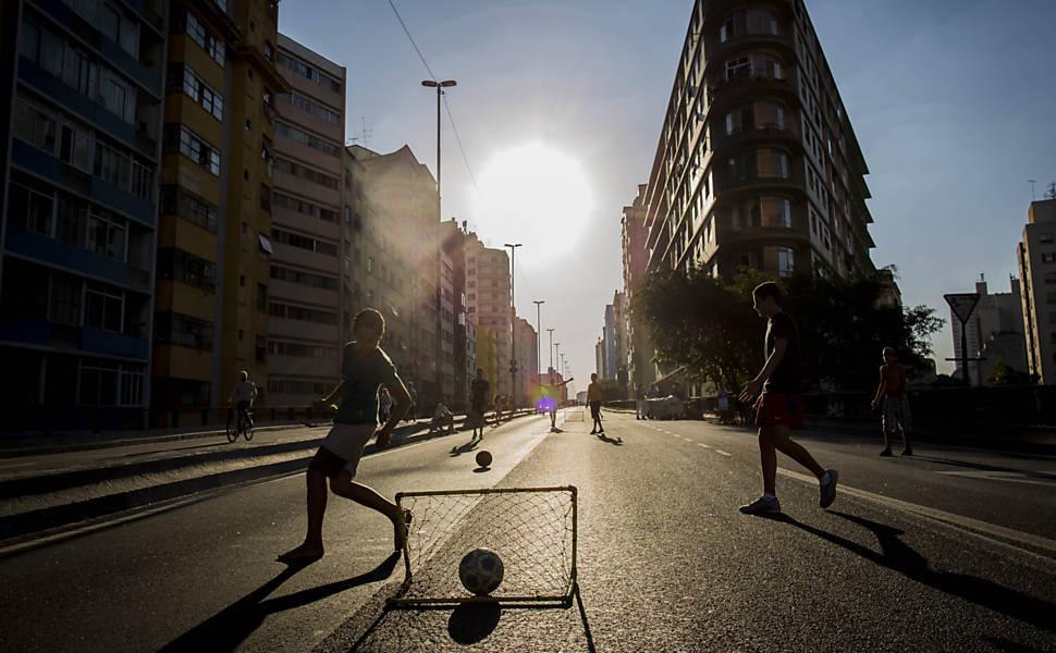 Domingo de sol e calor em São Paulo