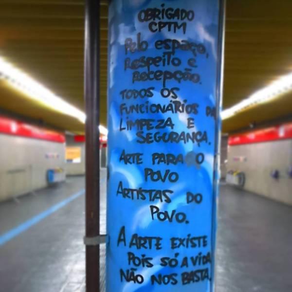 Grafite na estação de Guaianases