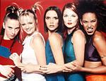 Da esq.: Mel C., Emma, Victoria, Geri e Mel B., as Spice Girls