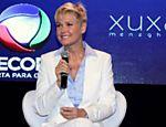 Xuxa durante coletiva na Record fala sobre seu novo programa