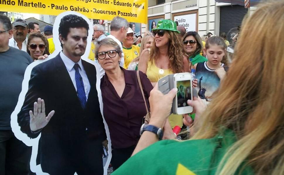 Juiz é destaque em protesto