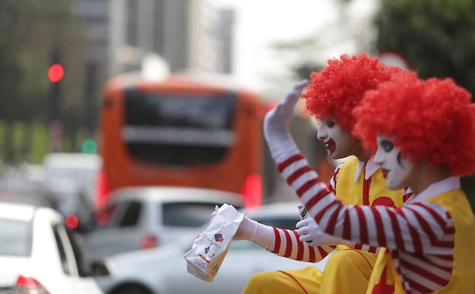 Protesto por direitos trabalhistas no McDonalds