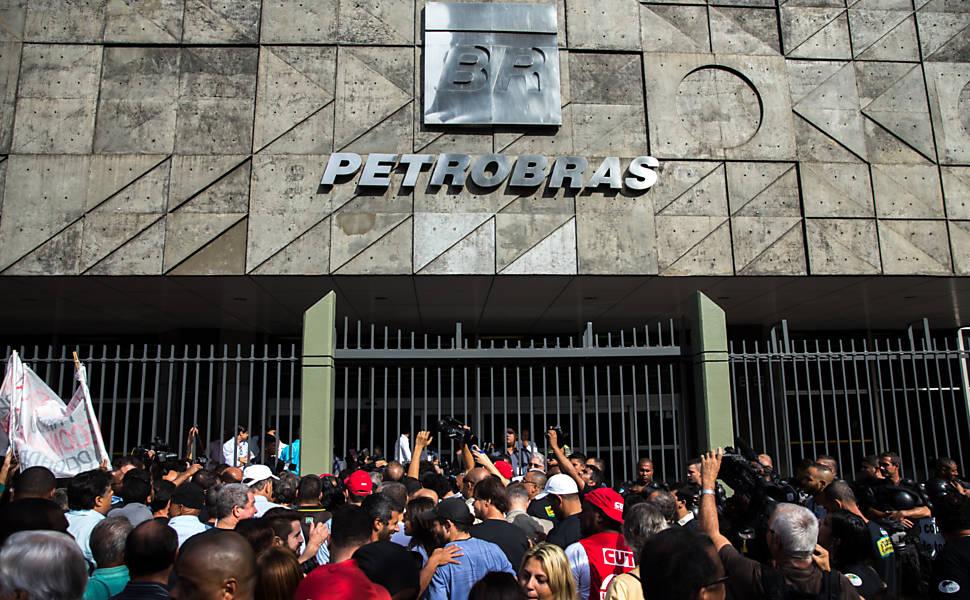 Protesto de funcionários da Petrobras no Rio