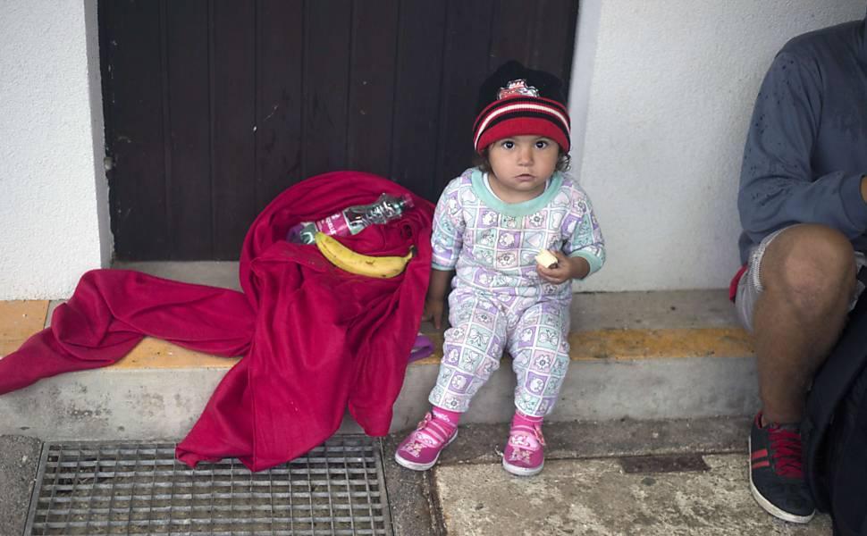 Refugiados chegam à Áustria