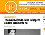 Thammy Miranda exibe tatuagens em foto totalmente nu