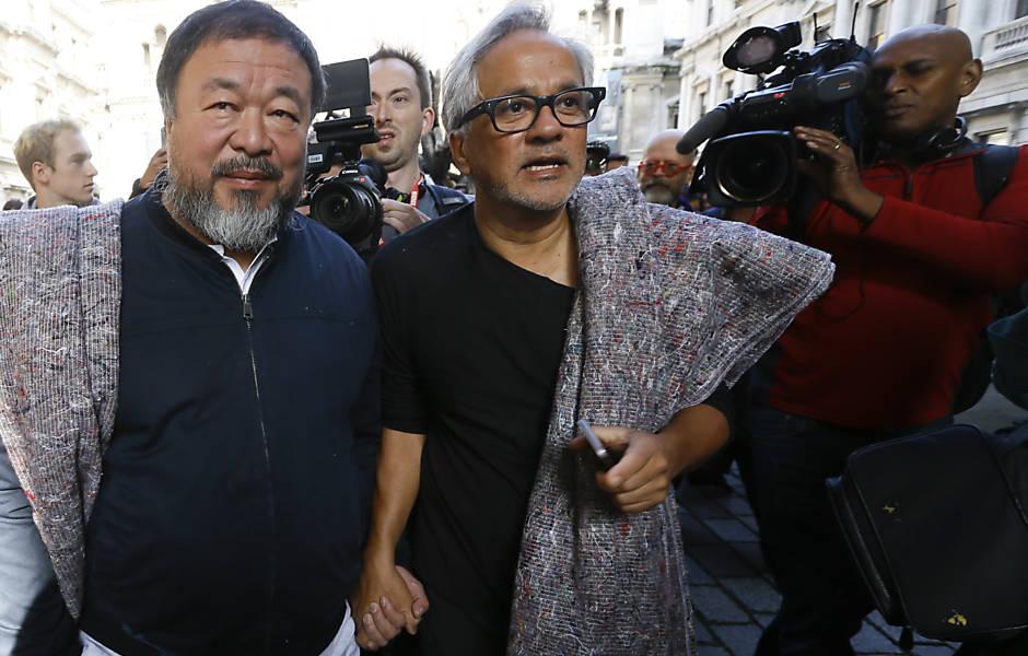 Artistas Anish Kapoor e Ai Weiwei