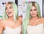 Kylie Jenner exibe fios verdes
