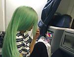 Kylie pinta o cabelo de verde