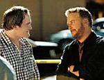 O cineasta Quentin Tarantino (esq.) dirige William Petersen em
