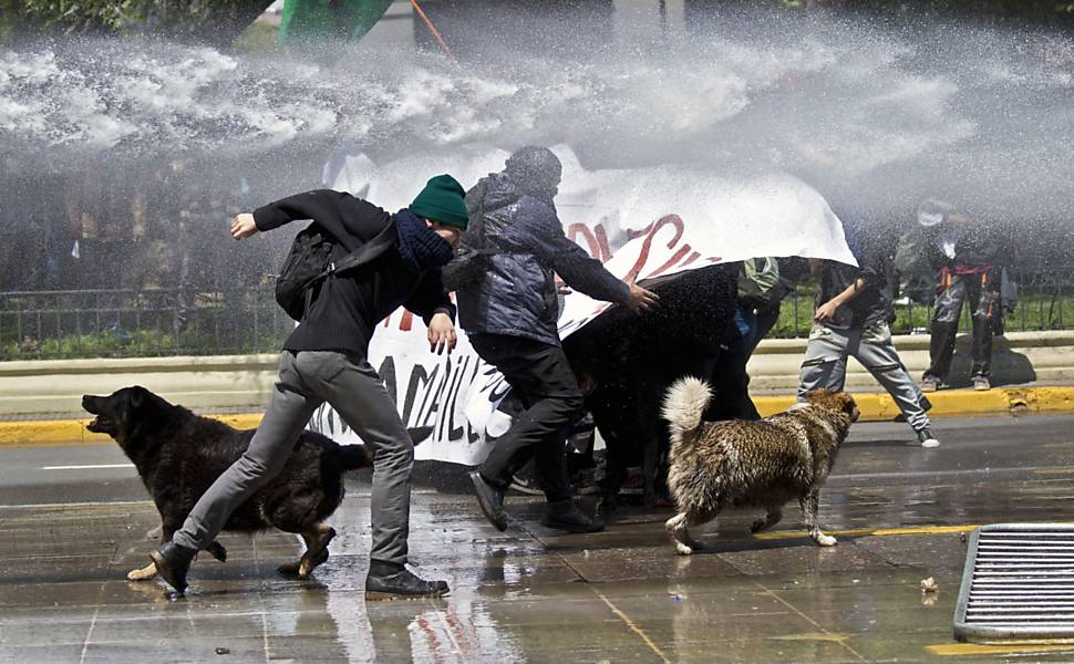 Protesto de estudantes no Chile