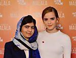Malala Yousafzai e Emma Watson posam para fotos no lançamento do documentário sobre a vida da garota paquistanesa