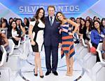 Silvio Santos recebe as filhas Silvia e Patricia no ?Jogo das 3 Pistas? deste domingo