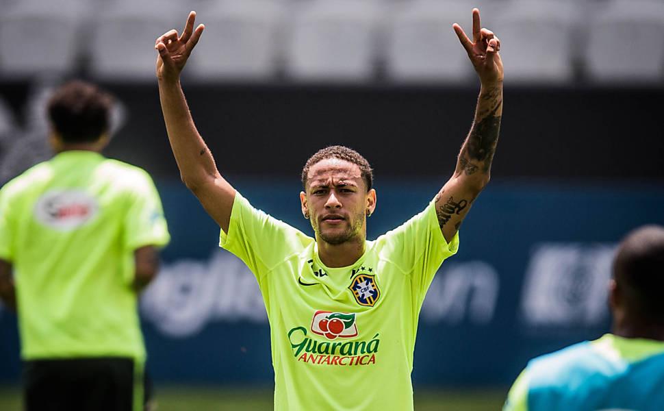 Treino da seleção em São Paulo