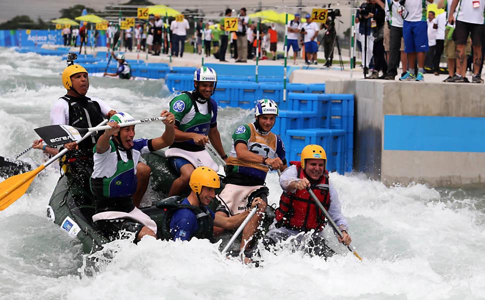 Inauguração do estádio olímpico de canoagem slalom