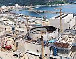 Construção da usina nuclear de Angra 3; obras da Andrade Gutierrez envolveram o pagamento de propina