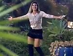 Ana Paula Minerato retorna à sede após eliminação de Rayanne Morais na noite de sábado (5)