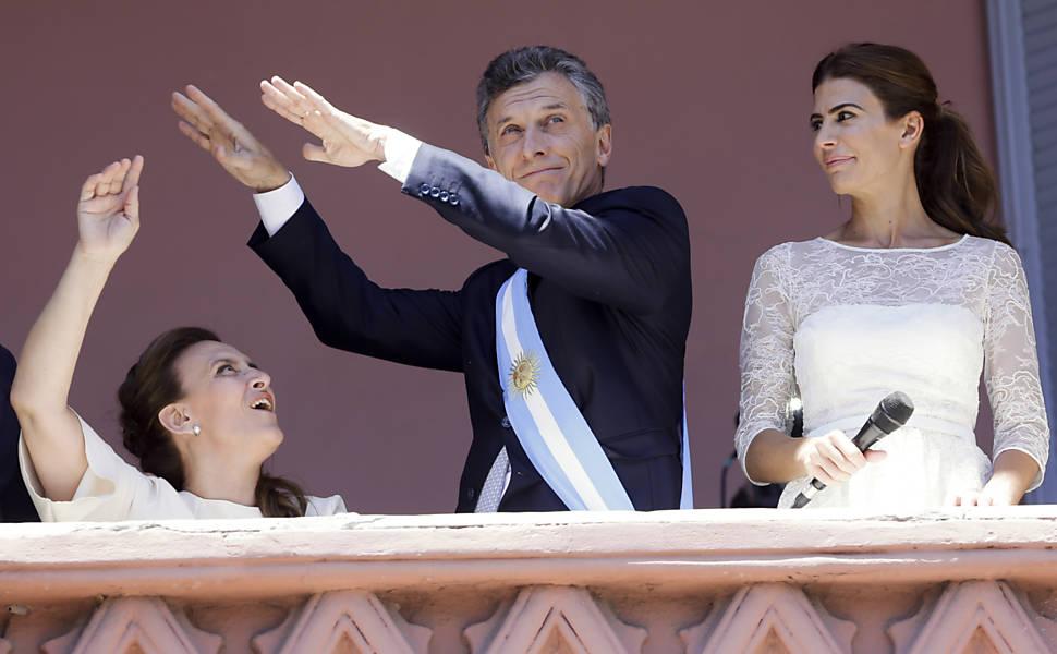 A posse de Macri, em 2015