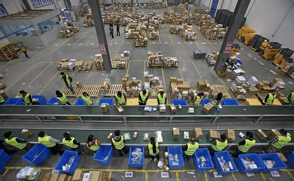 Produ��o industrial na China mostra recupera��o