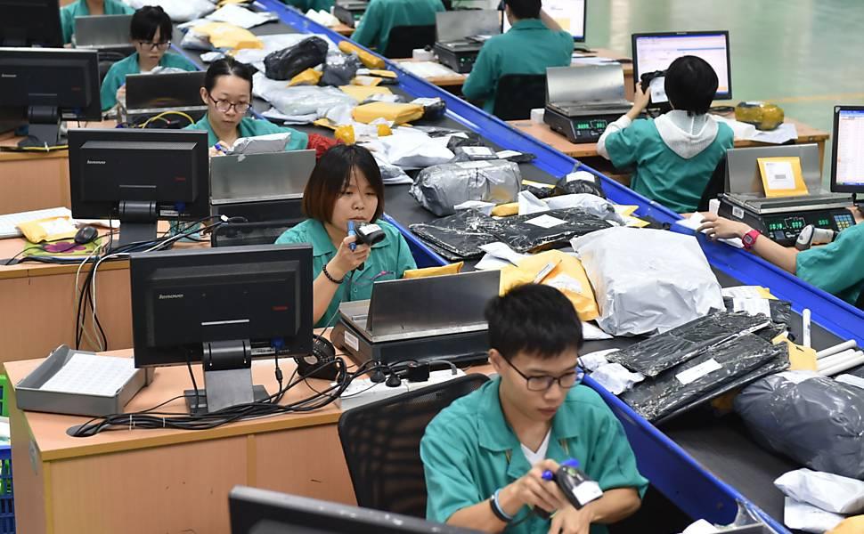 Produção industrial na China mostra recuperação