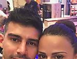 Viviane Araújo e o namorado, Radamés Martins