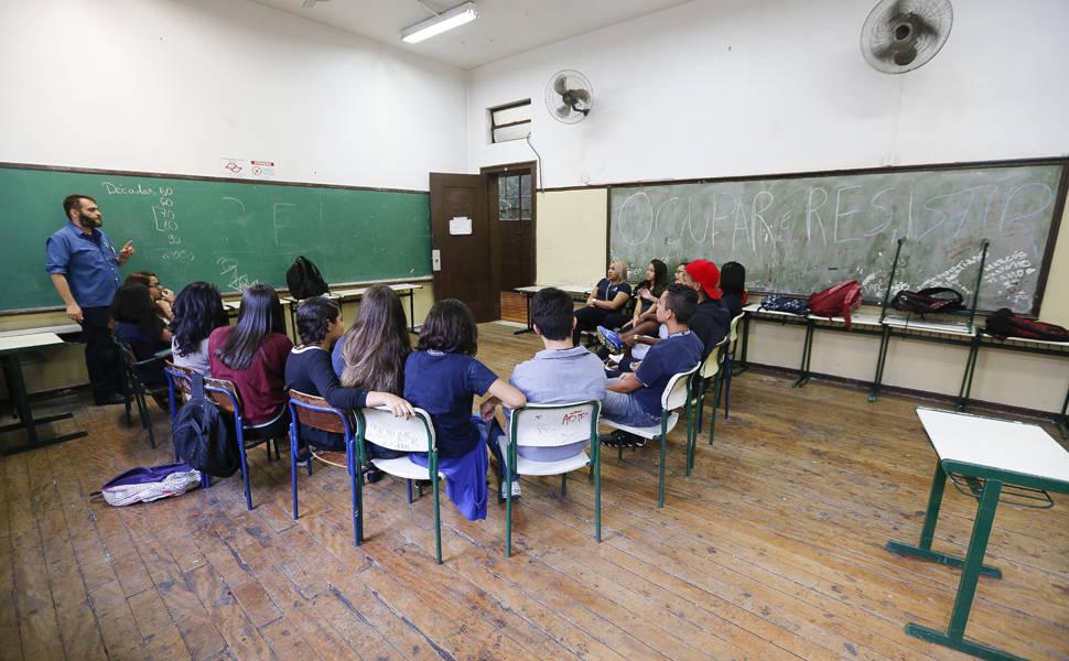 Protestos contra reforma nas escolas paulistas