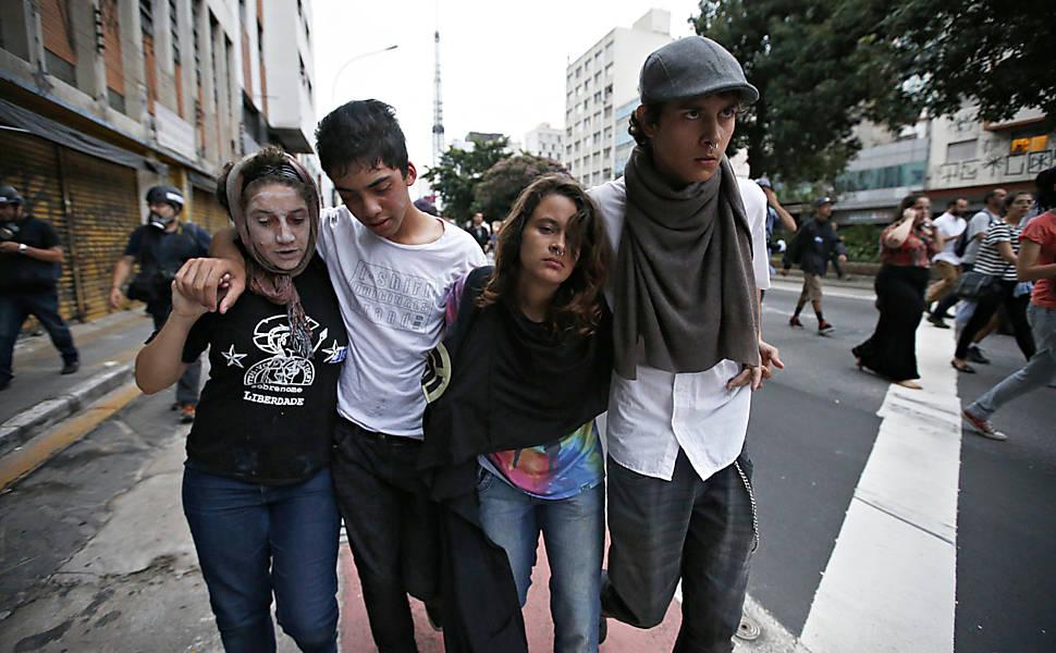 Protestos contra o aumento da tarifa