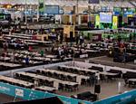 Arena de computadores da Campus Party, evento cuja nona edição começa nesta terça-feira (26), no Pavilhão de Exposições Anhembi, em São Paulo (SP)