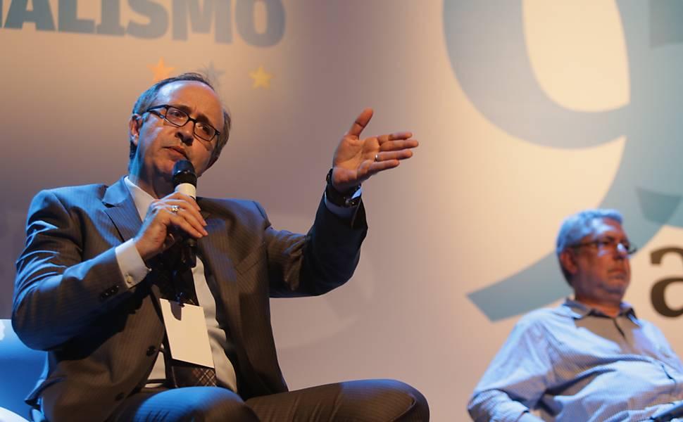 O colunista da Folha Reinaldo Azevedo e o diretor de Jornalismo da Empresa Brasil de Comunicação (EBC), Ricardo Melo, debatem o jornalismo de opinião