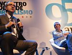 Reinaldo Azevedo e Ricardo Melo durante o debate