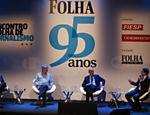 Reinaldo Azevedo, Ricardo Melo e Josias de Souza debatem o jornalismo de opinião, com mediação do colunista da Folha Bernardo Mello Franco