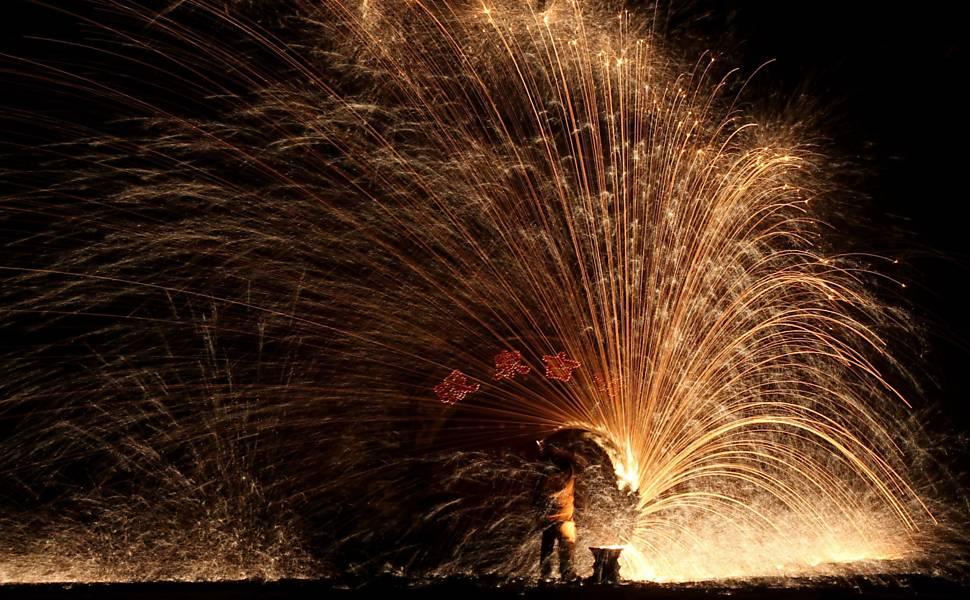 Fim das celebrações pelo Ano-Novo chinês pelo mundo
