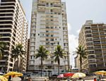 Fachada do prédio na praia das Astúrias, no Guarujá (litoral de São Paulo) onde um dos triplex do último andar seria de propriedade do ex-presidente Lula