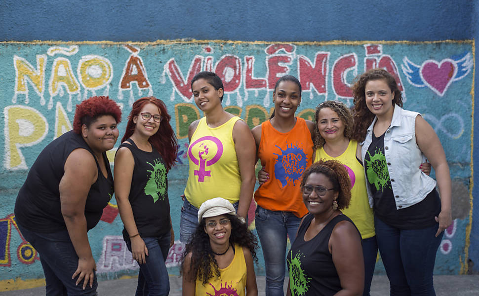 Grafite contra à violência doméstica
