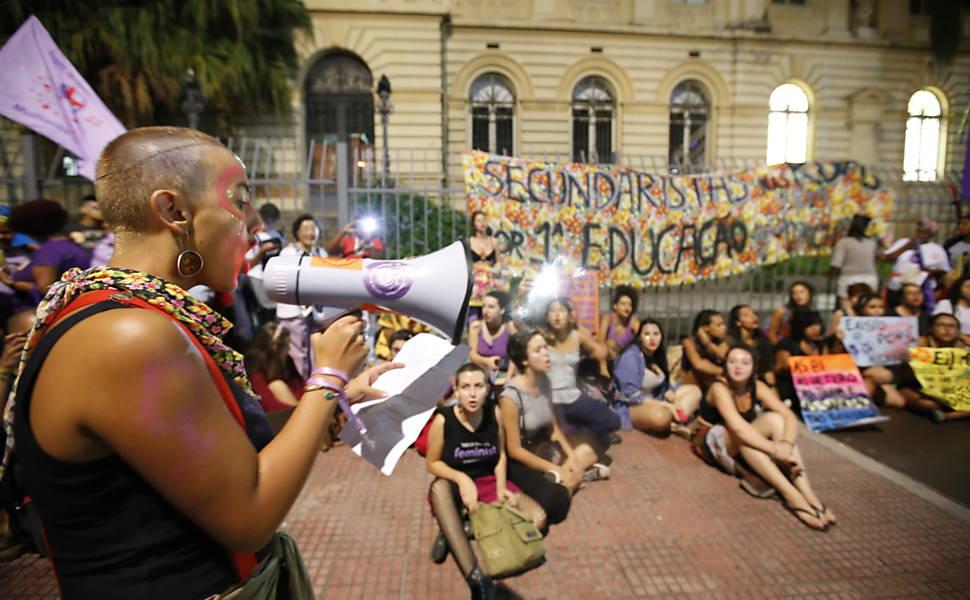 Marcha das Mulheres na av. Paulista