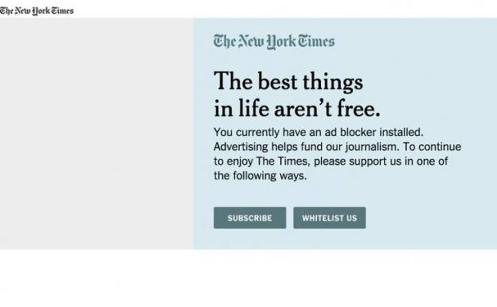 Jornais combatem bloqueadores de publicidade