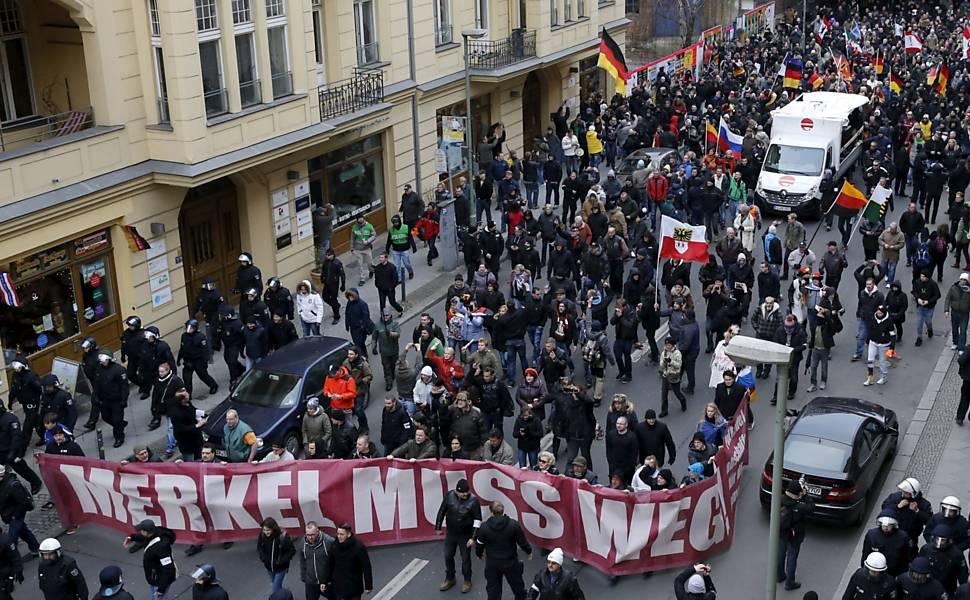 Protesto antirefugiados na Alemanha