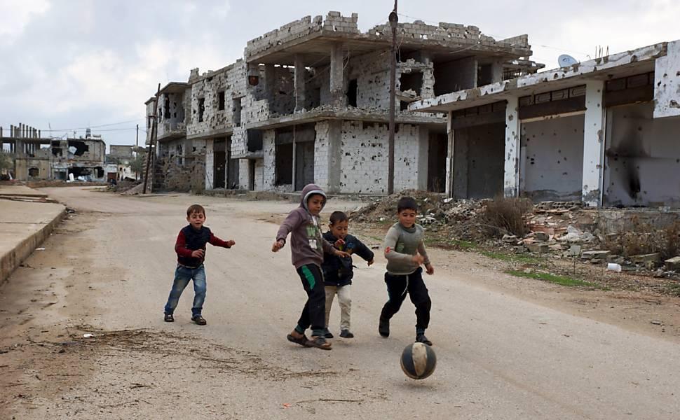 Crianças na guerra síria