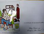 Cartão de boas festas com logotipo da construtora OAS
