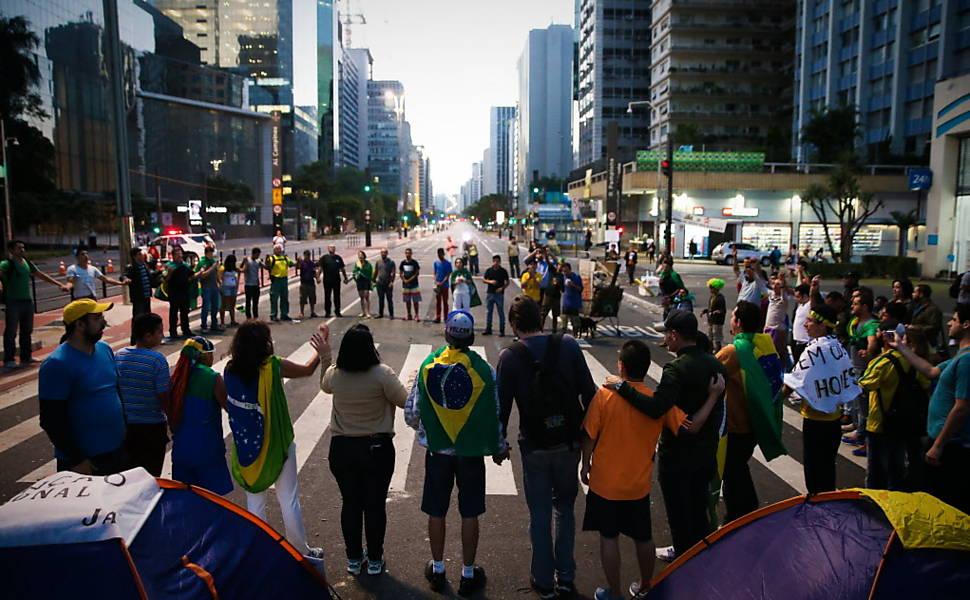 Ocupação na avenida Paulista