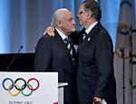 Nuzman e João Havelange, ex-presidente da Fifa