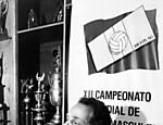 Carlos Arthur Nuzman, presidente da CBV (Confederação Brasileira de Vôlei), durante entrevista entrevista sobre o 12º Campeonato Mundial de Vôlei Masculino em 1990