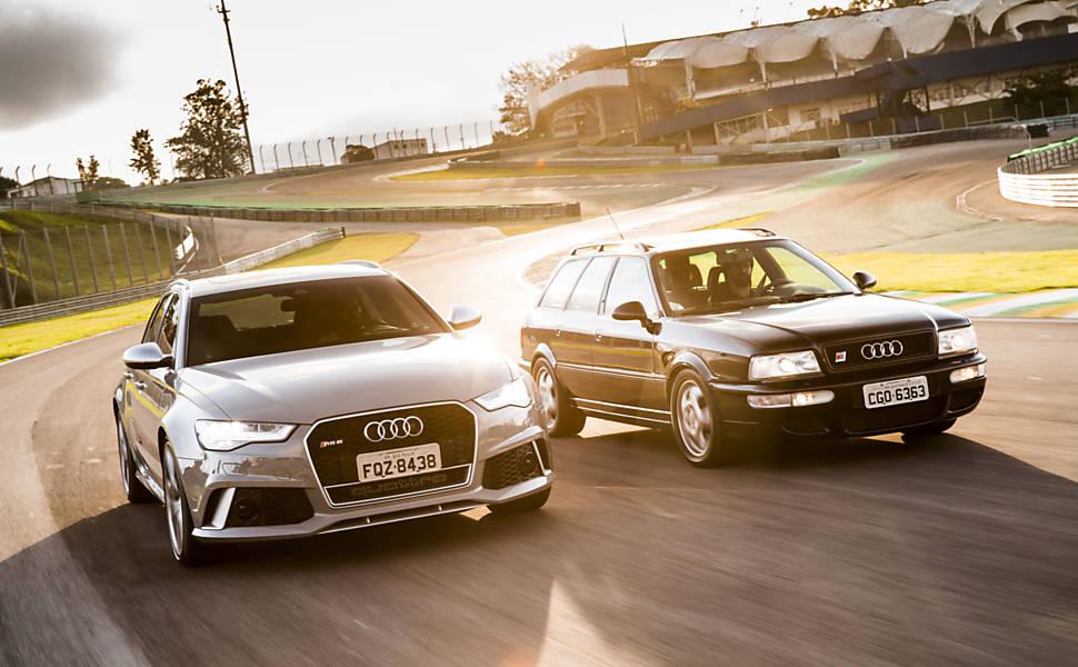 Audi RS 6 e Audi RS 2 aceleram no Autódromo de Interlagos
