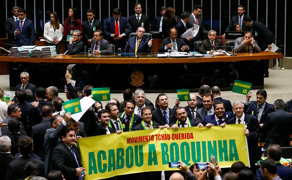 Votação do impeachment da presidente Dilma Rousseff, em 2016